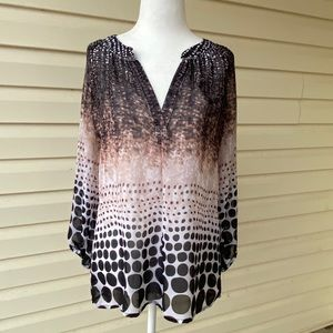 MILANO ABSTRACT POLKA DOT SHEER TOP SIZE SMALL